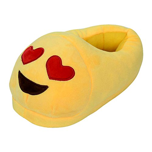 Cheriollstore Shoes Cherioll Eyes Emoji Cute Fun Heart Adult Warm Unisex Winter Slippers rCXrq