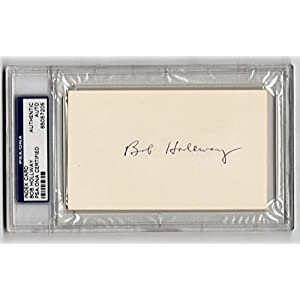 Bob Hollway MICHIGAN Vikings Purple People Eaters signed Index Card PSA/DNA d 99