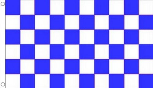 AZ FLAG Blue and White Check Flag 3' x 5' - Checkered Racing Flags 90 x 150 cm - Banner 3x5 -