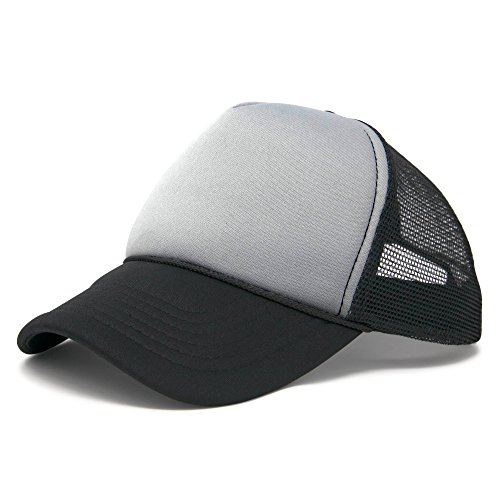 Frog Trucker Hat - DALIX Two Tone Summer Mesh Cap in Black and Gray Trucker Hat