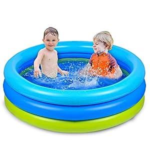 Joyjoz Piscina Gonfiabile per Bambini 120cm * 30cm Piscina per Bambini Giochi Estivi Fmiglia Giardino 1 spesavip