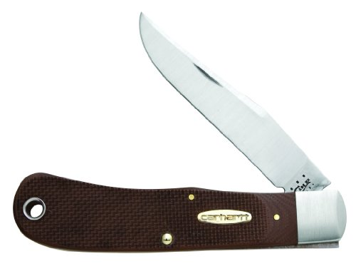 Case Cutlery 36306  Back Pocket Knife with Leather Lanyard G-10 Synthetic Handle, Earth Brown