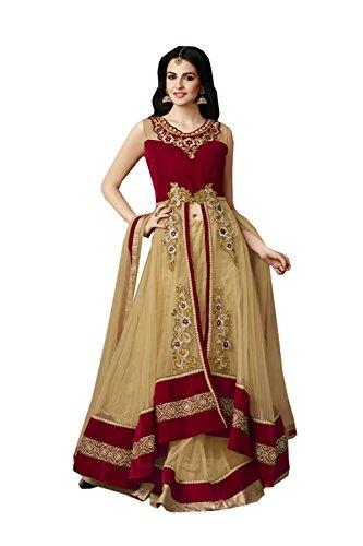 PCC Indian Women Designer Wedding beige Lehenga Choli K-4529-39529