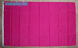 3'x5' bandera de Magenta, sólido blanco publicidad rosa Business Real Estate complejo equipo