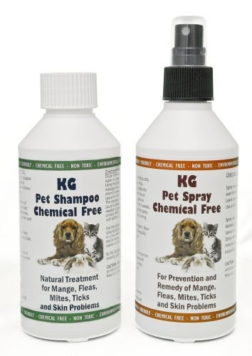 KG Wash & Go No Rinse Pet Shampoo 250ml & Spray 250ml. Rids & Protects from...