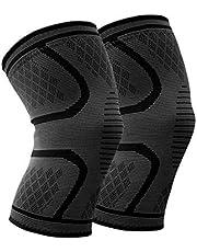 WHCREAT Kniebandage Kompression Knieschoner Knieschutz Knie Ärmel Hilfe Joint Pain Relief für Meniskusriss, Arthritis, ACL-Verletzung Sport (1 Paar)
