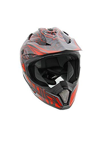 Cyclone ATV MX Dirt Bike Off-Road Helmet DOT/ECE Approved - Red - Youth Medium