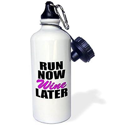 Run Now Wine Plus Tard Rose Sports Bouteille d'eau en acier inoxydable Bouteille d'eau pour femme homme enfants 400ml