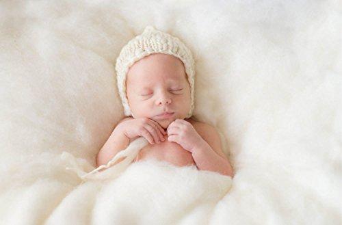 Sunmig Newborn Baby Wool Fluff Photo Props Merino Basket Stuffer Basket Filler Rug Photography Prop (White) (Wool Nursery)