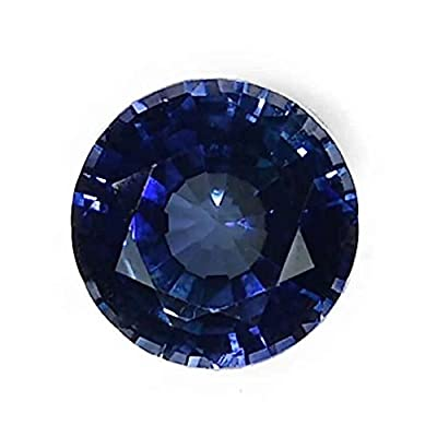 Blue Lab Sapphire Unset Loose Round Gem from ugems