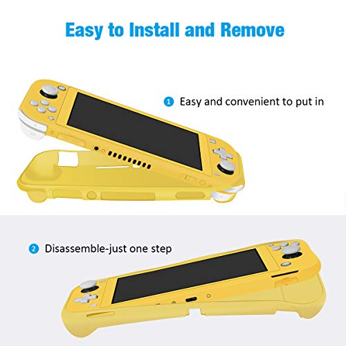 Grip Case for Nintendo Switch Lite, Protective Cover Case Shock-Absorption for Switch Lite Console - Yellow