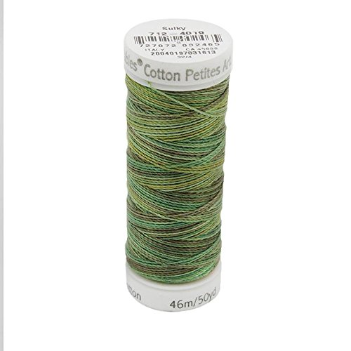 Sulky Of America 12wt Blendables Cotton Petites Thread, 50 yd, Forest Floor