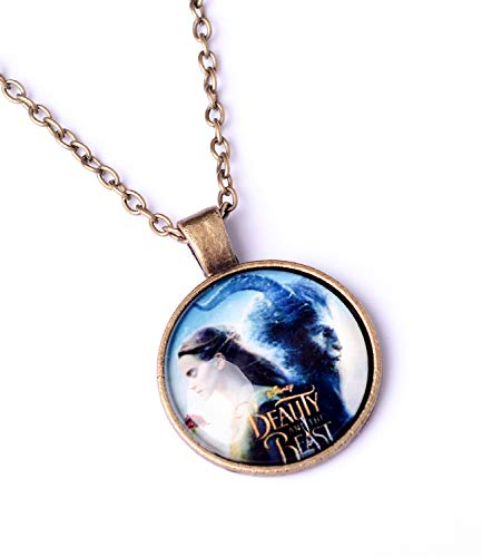 Cute Beauty and The Beast Accessories Metal Necklace Pendant Charm Gifts for Teen Boy Girl Best Friend/Collection