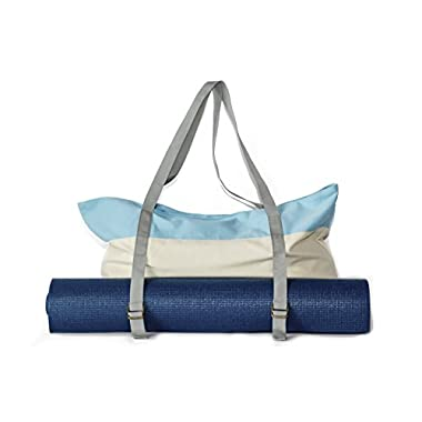 Yoga Mat Tote Bag and Gym Bag by Peak To Prairie — Made with Durable, Soft Canvas for Tips to the Gym and Yoga Classes. Large Enough to Fit a Yoga Mat, Blocks, and Towel & Other Accessories