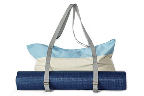 Yoga Mat Tote Bag and Gym Bag by Peak To Prairie - Made with Durable, Soft Canvas for Tips to the Gym and Yoga Classes. Large Enough to Fit a Yoga Mat, Blocks, and Towel & Other Accessories