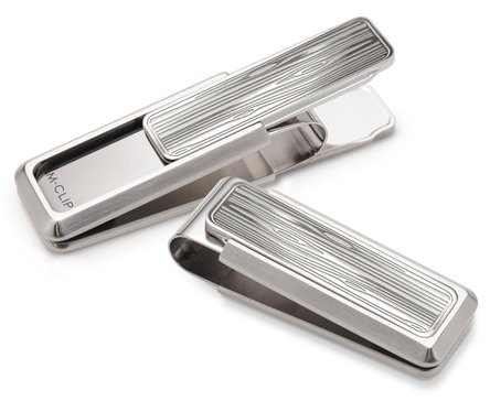 M-Clip Men's Stainless Brushed With Etched Woodgrain for sale  Delivered anywhere in USA