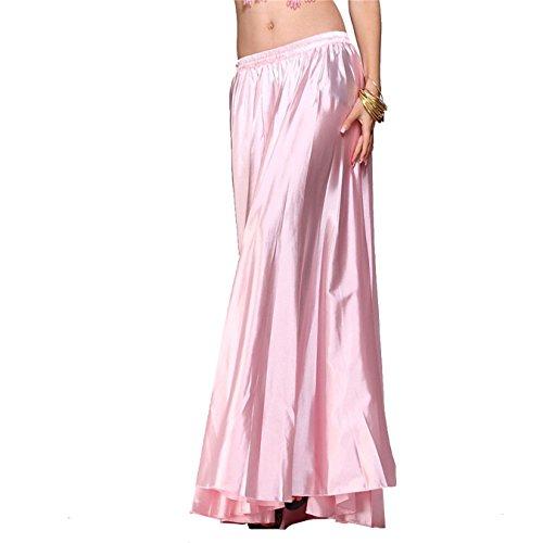 Womens Belly Dance Skirt Tribal Dance Costumes Satin Long Swing Maxi Skirt Full Circle Skirt