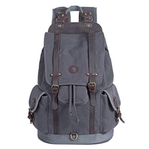 colore Borsa Men Grigio scuro For Armygreen da sportiva Travel esterno Retro Backpack Style Canvas Olprkgdg XICwPx
