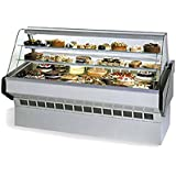 Federal Industries SQ-3CB BLK 36-in Refrigerated Bottom Curved Bakery Case w/ Glass Shelves, Black, Each