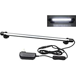 Mingdak LED Aquarium Light Kit for Fish Tank,Underwater Submersible Crystal Glass Lights Suitable for Saltwater and Freshwater,42 LEDs,14.5-inch,Lighting Color White