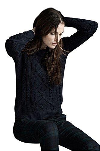 Holidaysuitcase-Sudadera de algodón de malla de espesor, modelo para mujer 44 a 50 EU negro