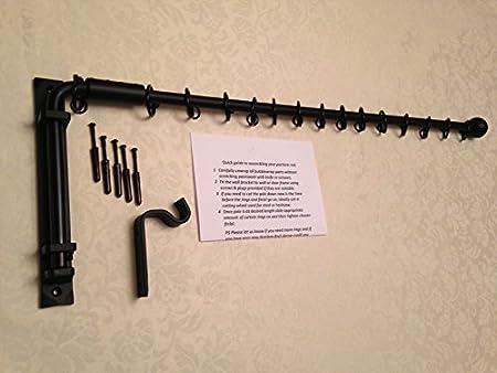 Wrought Iron Portiere Rod Metal Swinging Door Curtain Crane Drapery Arm
