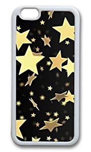 MOKSHOP Adorable Golden Stars Soft Case Protective Shell Cell Phone Cover For Apple Iphone 6 (4.7 Inch) - TPU White