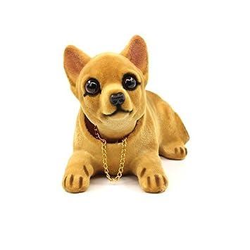 CUGLB Coche Auto Chihuahua Asintiendo Con La Cabeza Cabezón Tablero Perros Decoraciones Juguete