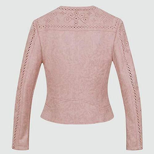 Donna Da Scure Wjmm Blazer Maniche Con Giacca Collo Risvolto Pink qSZpyBwxR