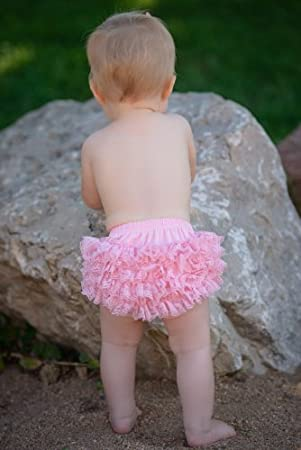 Black Lace Diaper Cover Bloomer 0-6 Months