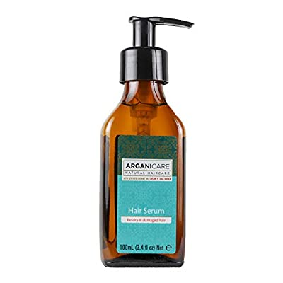 Arganicare Argan Oil Hair Serum for dry and damaged hair with Certified Organic Argan Oil and Shea Butter. 3.4 fl. Oz.