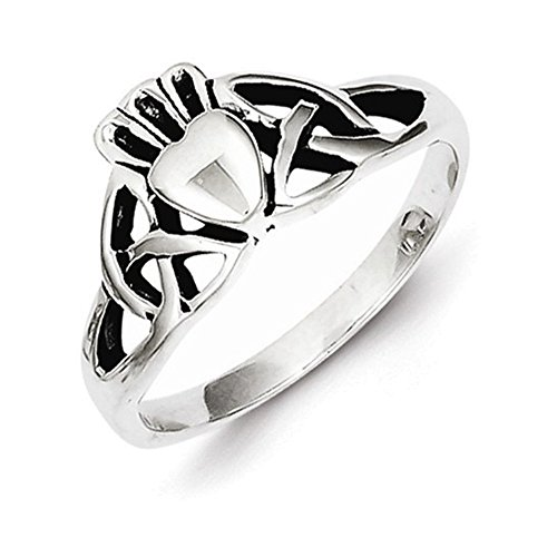 (Sterling Silver Antiqued Claddagh Ring Size 7)