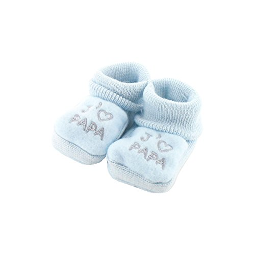 zapatitos de bebé 0-3 Meses azul - Quiero al papá