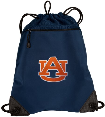 BROAD BAY Auburn University Drawstring Backpack Auburn Cinch Bag - UNIQUE MESH & MICROFIBER (Drawstring Backpack Microfiber)