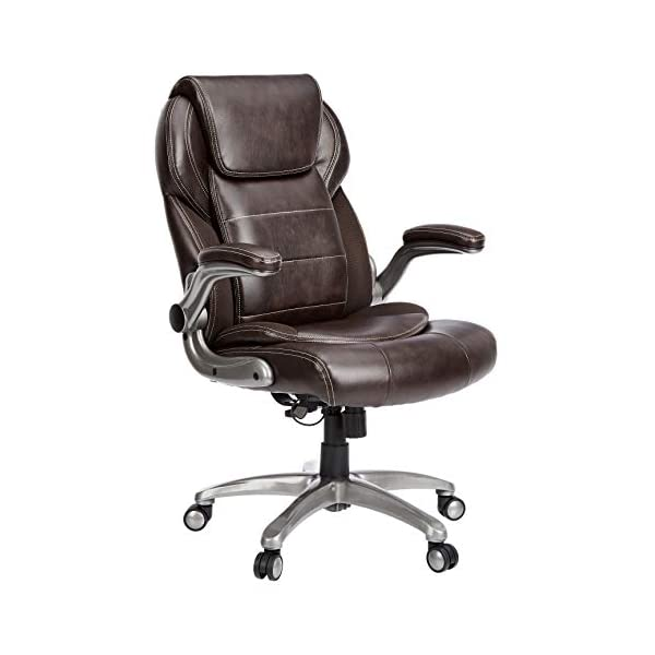 Brown leather executive chair by Amazon