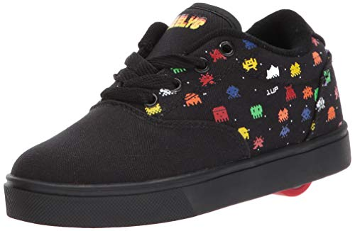 Heely S Skate Shoes - Heelys Boys' Launch Tennis Shoe, Black/Multi Droids, 8 M US Big Kid
