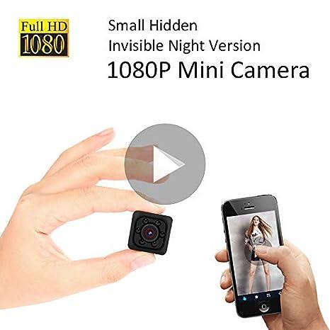 TYESHA Mini Cámara Espía Oculta 1080p, Cámara Inalámbrica con HD Visión Nocturna, Detección de