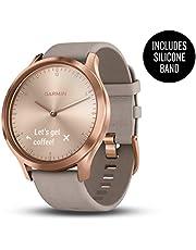 Garmin Vívomove HR, Hybrid Smartwatch for Men and Women, Rose Gold w/Suede Band