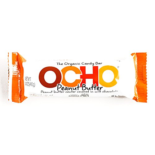 OCHO Peanut Butter Milk Chocolate Bar 1.4 oz each (1 Item Per Order) (Ocho Chocolate)