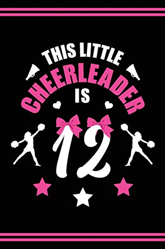 Cheerleader Book Girls Cheerleading Journal: Blank Lined Notebook + Goals and Wish List | 12th Birthday Little Girl Cheerleader Book | Black Pink Cover with Cheerleader Bow por SilentSoulArts Design