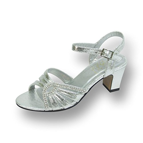 Heeled Women Guide FIC Sandal Carla Floral Dinner Size Measurement Wedding Prom Silver Wide Dress for Width wXTHS6q6E