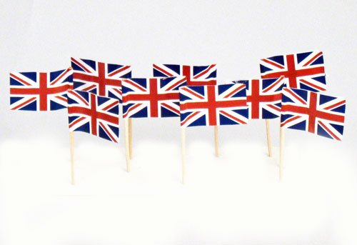 (UK | British Flag Toothpicks (100))