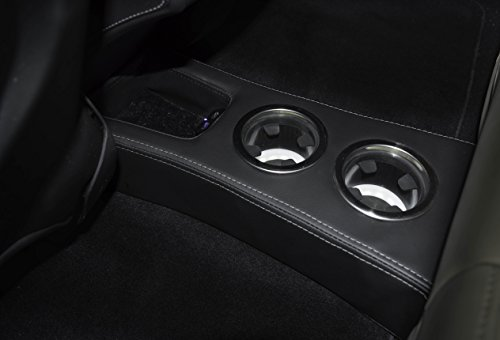 EVamped LED Rear Cup Holder-Floor Console for Tesla Model S (White) by EVamped