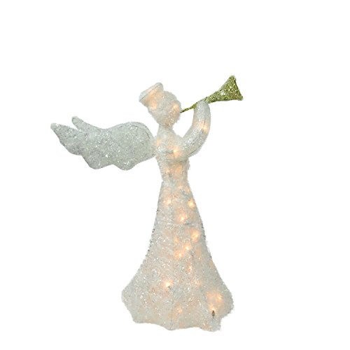 Outdoor Lighted Angel Yard