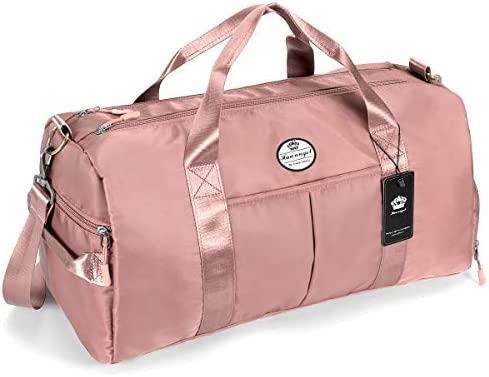 Gym Toiletry Bag For Women Embroidered Golden Crown And Rose Gym Bags For Girls Backpacks For Men Lightweight With Zipper Pocket Sports Athletic School Travel Gym Cinch Sack