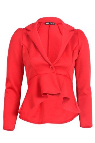 My1stWish - Veste de tailleur - Femme Rouge (rosso)