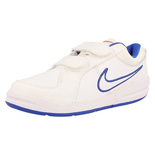 Nike Pico 4 PSV Kinderschuhe white-white-bright crimson-lyon blue - 34