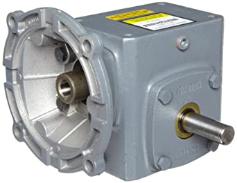 """Boston Gear F7155KB5J Right Angle Gearbox, NEMA 56C Flange Input, Left Output, 5:1 Ratio, 1.54"""" Center Distance, 1.72 HP and 291 in-lbs Output Torque at 1750 RPM"""