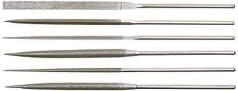 Strauss 6 Piece Needle File Set, Diamond Grit, Fine, 160mm Length