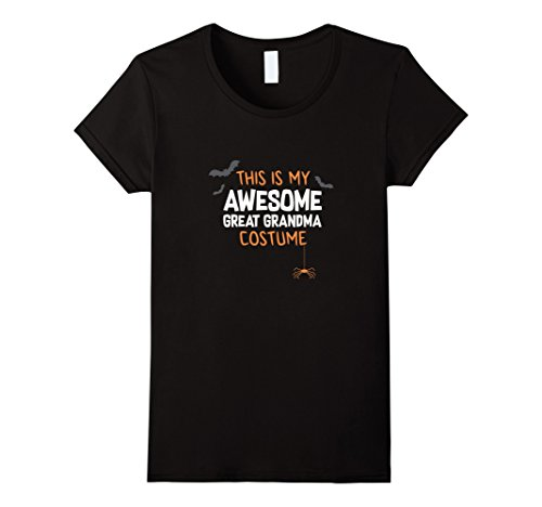 Womens Awesome Great Grandma Costume Shirt, Funny Cute Halloween XL Black